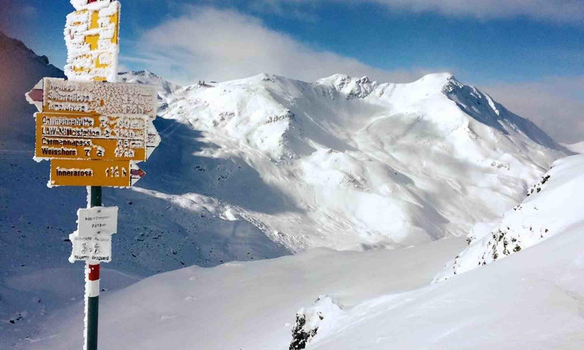 Arosa im Winter - verschneite Wanderwege