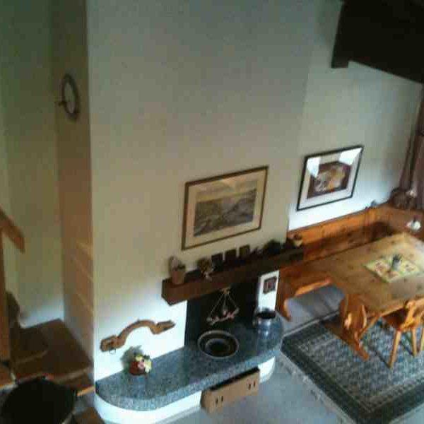 Blick von der Empore ins Wohnzimmer